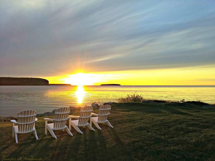 3. Nothing beats a golden sunset in Door County.