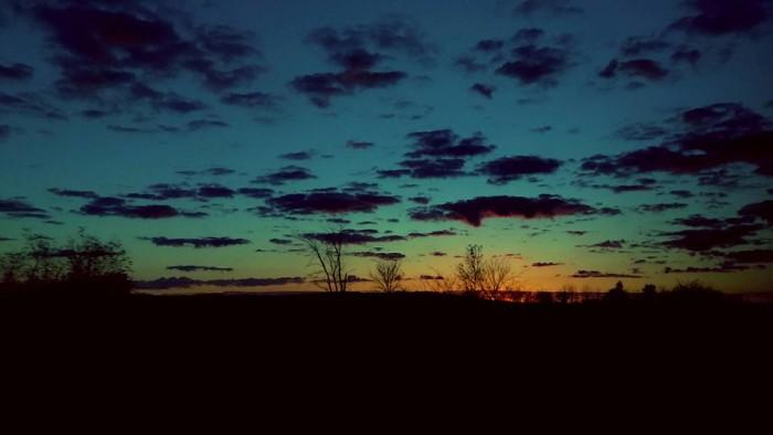 13. Paula captured a gorgeous rainbow sunrise.
