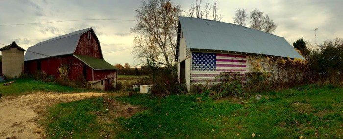1. A farmer painted the American flag on his barn after 9/11.