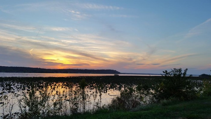 7. The water at Nauvoo Flats Wildlife Refuge looks like a mirror.