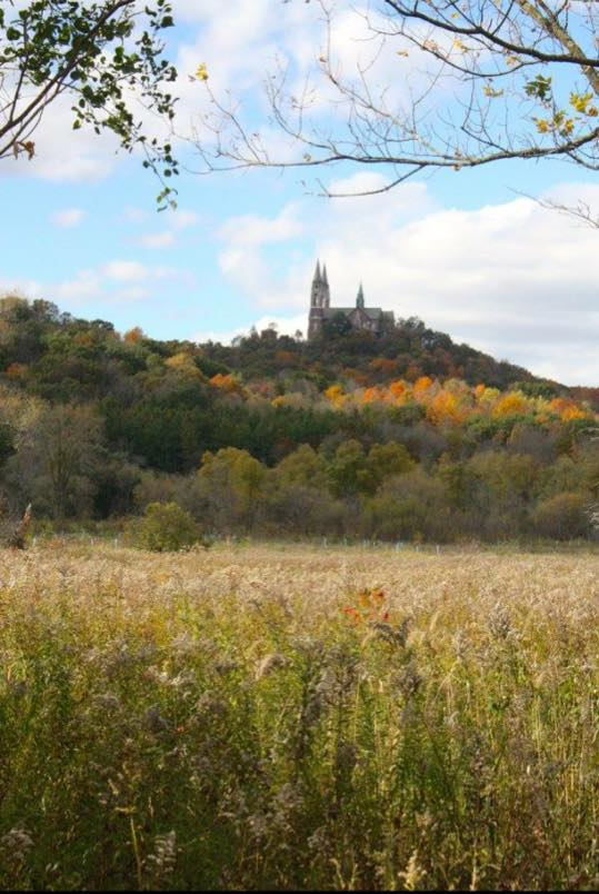 10. This is a unique shot of Holy Hill in the distance.