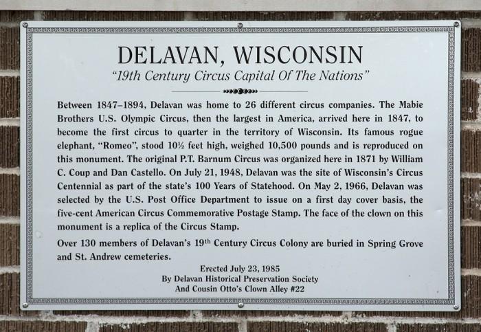 12. Delavan (Clown City, U.S.A.)