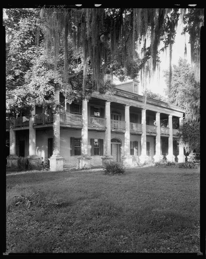 4. Cottage Plantation aka Hackberry Hall, South of Baton Rouge, LA