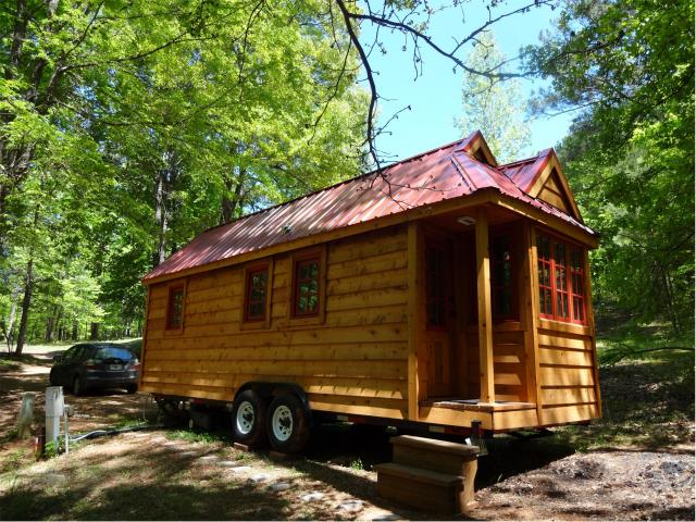 4. Tumbleweed Tiny House on Wheels - Stone Mountain