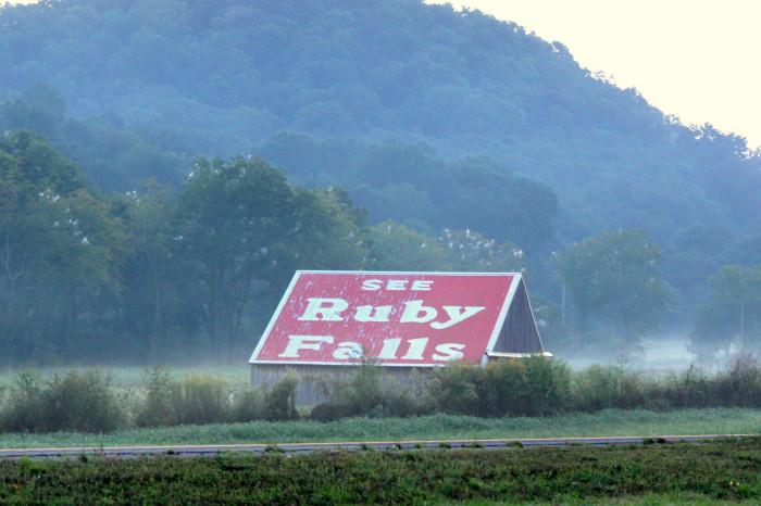 12) Ruby Falls magic