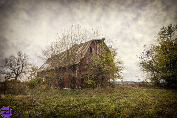 1. Old barns and rural areas.