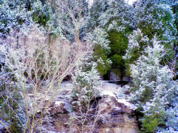 10) A most icy cliffside