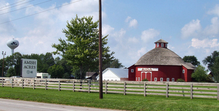 4. Nappanee is home to Amish Acres.