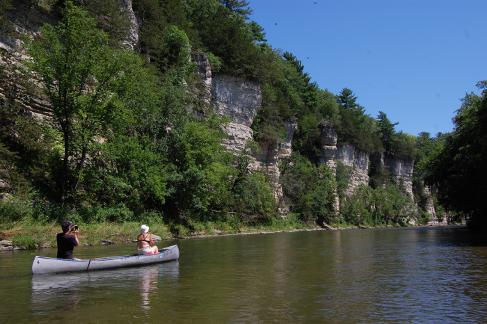 10. The steep, prehistoric bluffs that line the edge of the Upper Iowa River.
