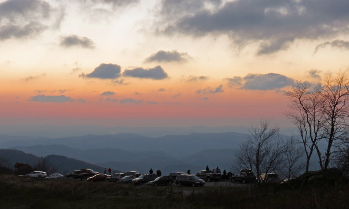 7. Gathering to catch the sunrise from Thunderhills Overlook.