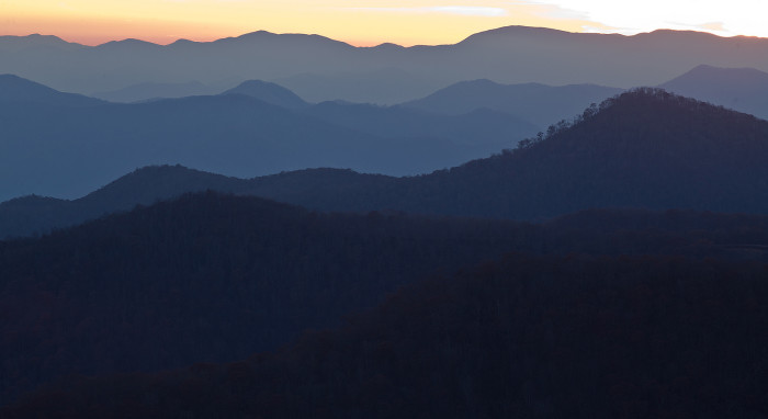 21. The Blue Ridge Mountains looking oh so blue.