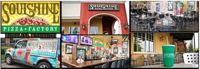 10. Soulshine Pizza Factory, Ridgeland, Flowood, and Oxford