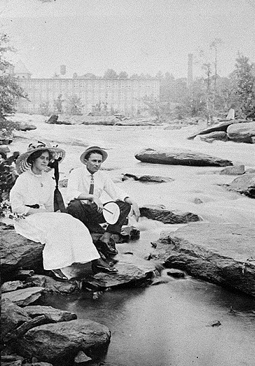 5. Young Couple on Yellow River Shoals, Porterdale, 1915