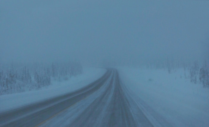 8) Ice fog restricting your visibility.