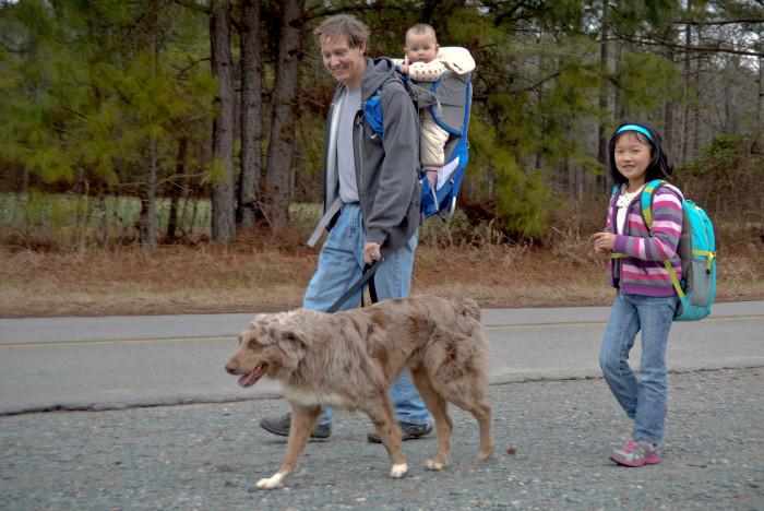 10. We took regular leisurely walks.