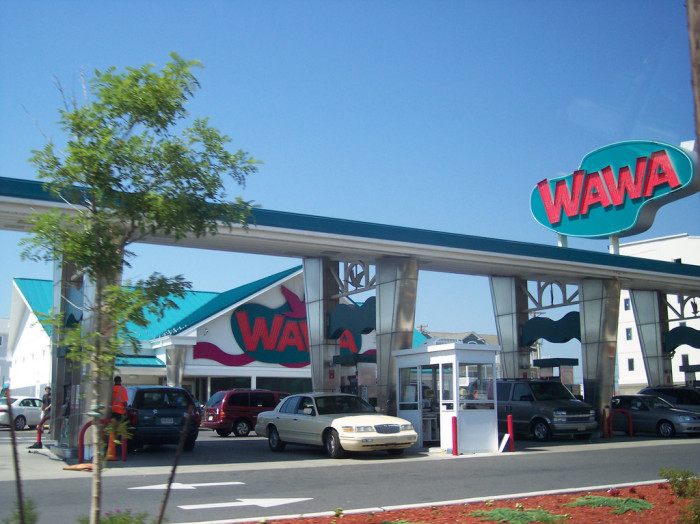 14. The gas stations.