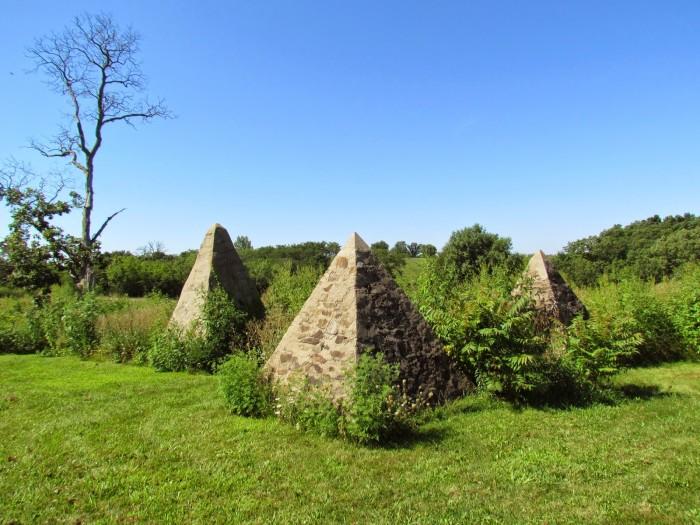 11. The pyramids at Hickory Grove Cemetery, near Avery