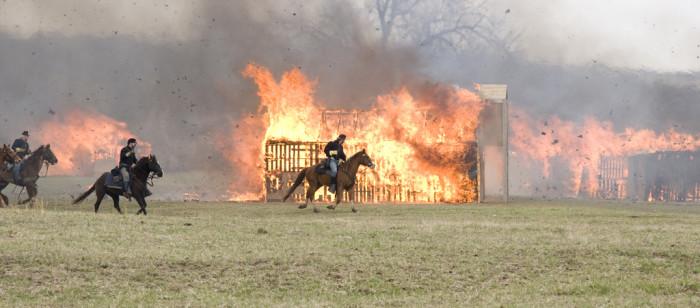 12. Civil War reenactments.