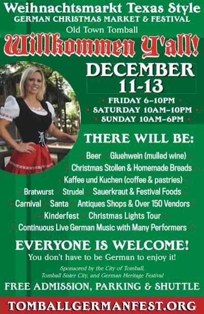 5) Tomball German Christmas Market & Festival