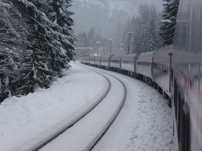 3. Take the scenic snow train out to Leavenworth.