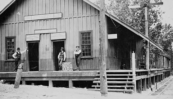 2.  Depot, Suwanee, Gwinnett County, ca. 1910-1920