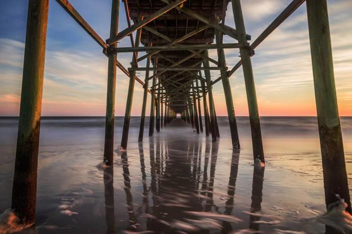 5. Beneath the pier