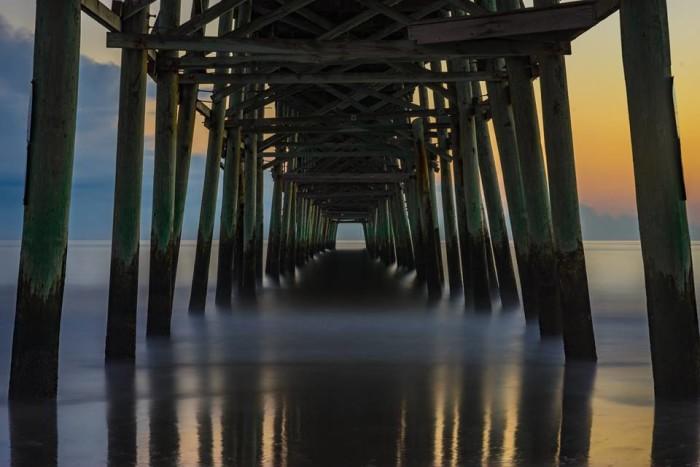 15. Beneath the pier.