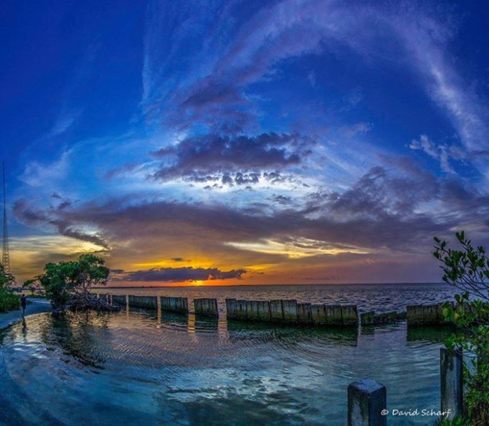 20. David Scharf shared this shot of the sun setting over Tampa Bay