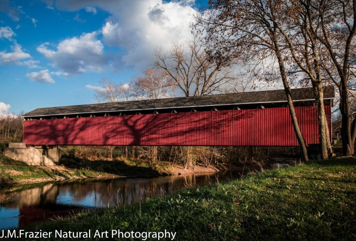 9. Jeff Frazier generously shares his photographer skills with us just about every week! Here is a nice picture of a covered bridge in Matthews, Indiana!