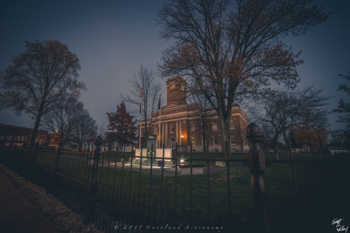 17. Cortland Astronomy snapped an absolutely breathtaking picture of the Brownstown Courthouse in Jackson County. Who knew a courthouse could look so good?