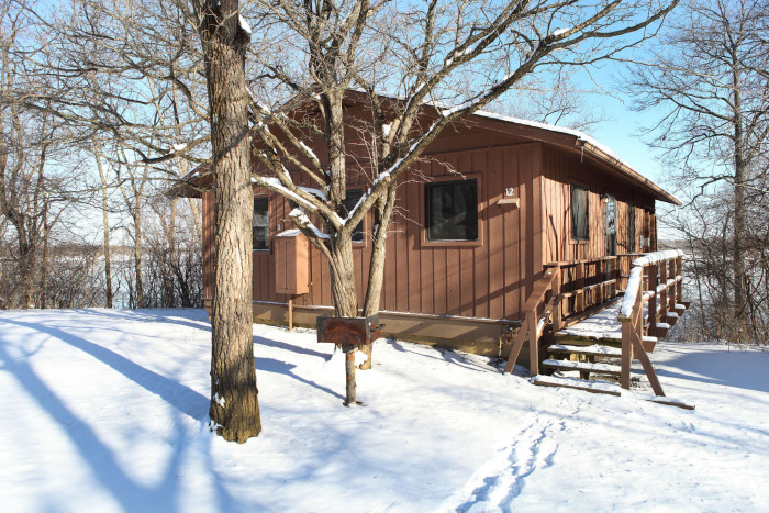 9. It's the picture perfect time for a cabin getaway.