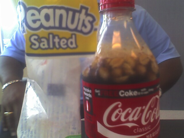 12. If you need to eat on-the-go, you'll want to grab a coke and some salted peanuts...and mix them together.