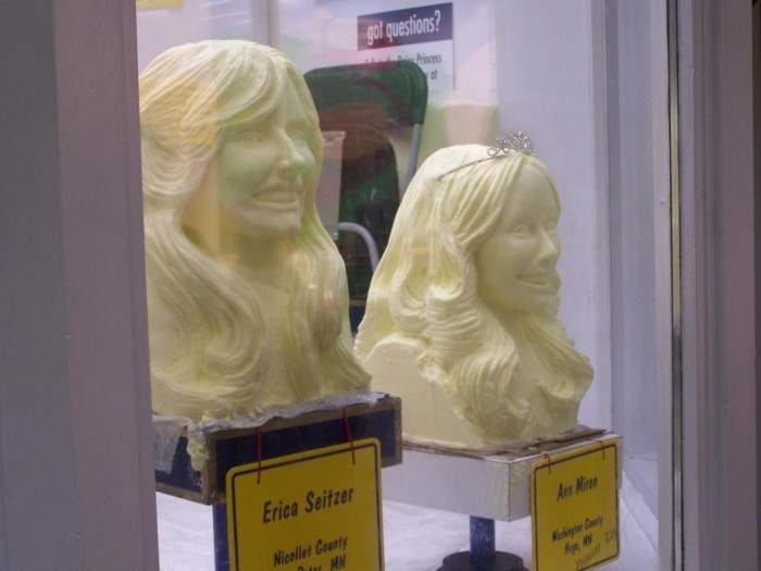 9. We carve busts out of butter, then photograph them. It's the ultimate honor.
