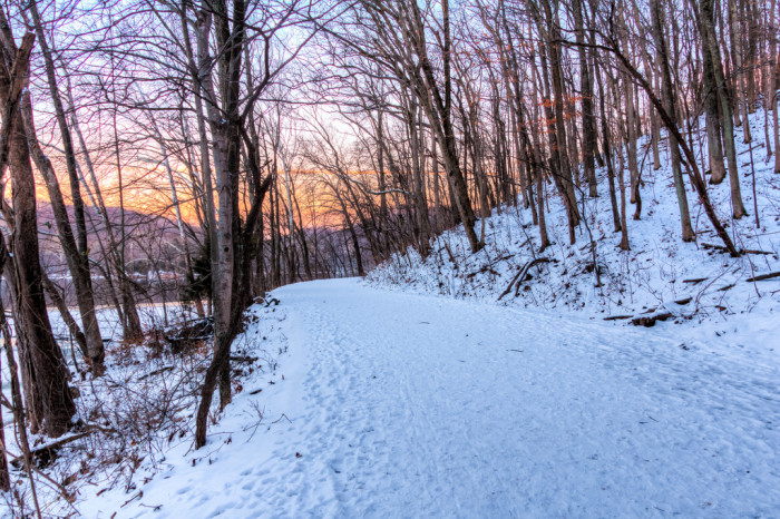 13) Snowy Radnor Lake sunset