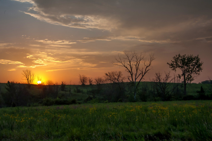 13. And there's nothing like an Iowa sunrise to start the day.