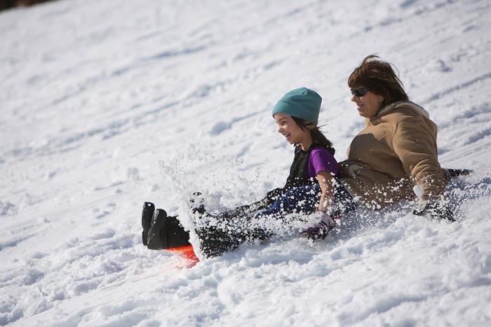 7. ...And sledding...