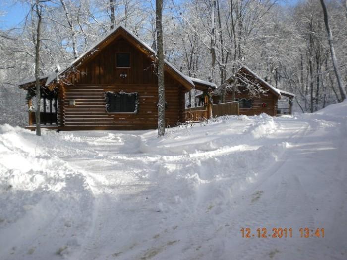 11. Grumpsters Log Cabins