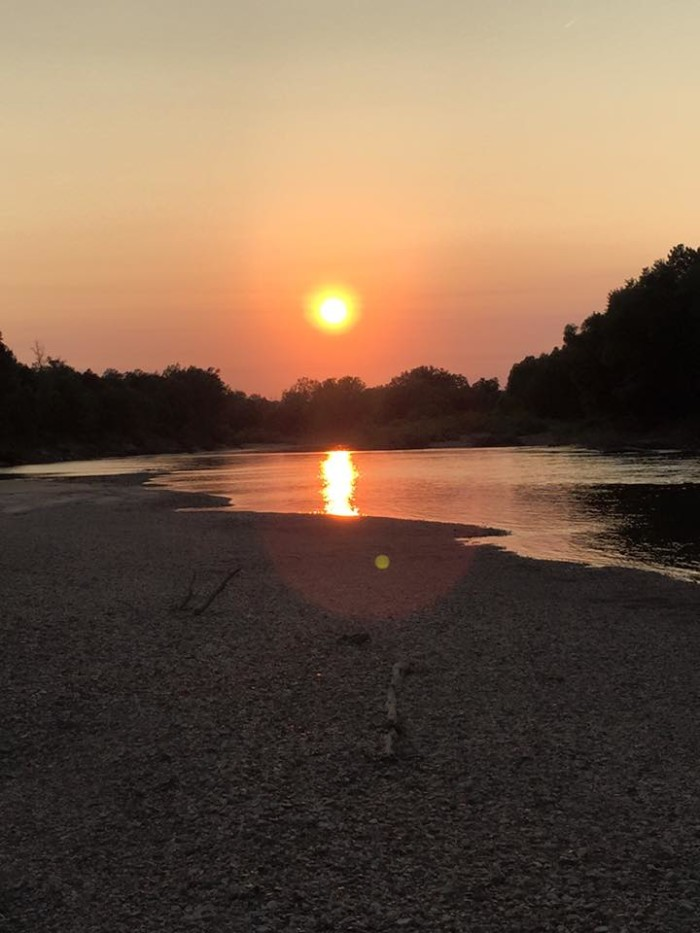 14.Sunset on the Gasconade River by Karla Helmering.
