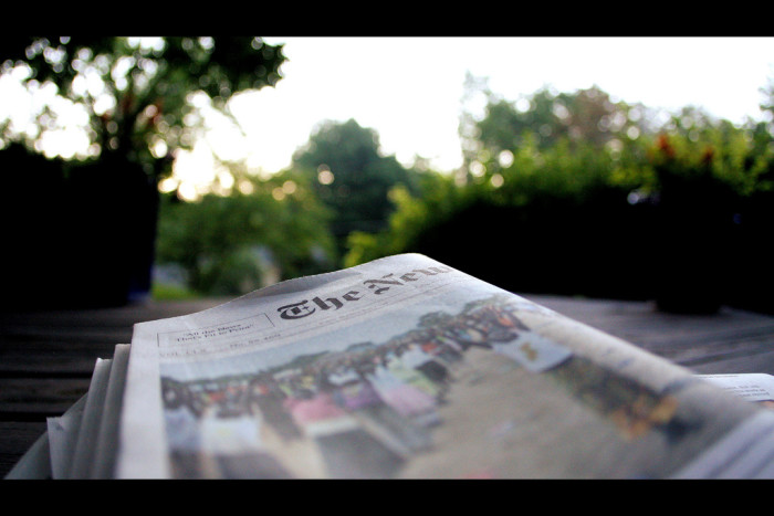 14.We had newspapers delivered to our front doorstep.