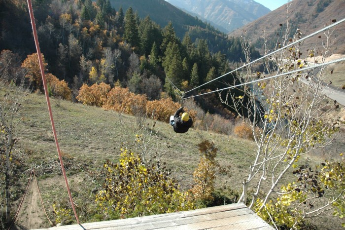 8. Ride the MAX zip line in Provo Canyon.