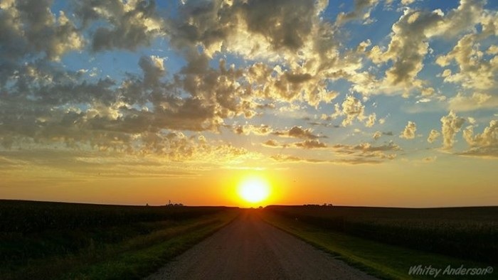 14. Or ending the day by watching the sun set on a gravel road.