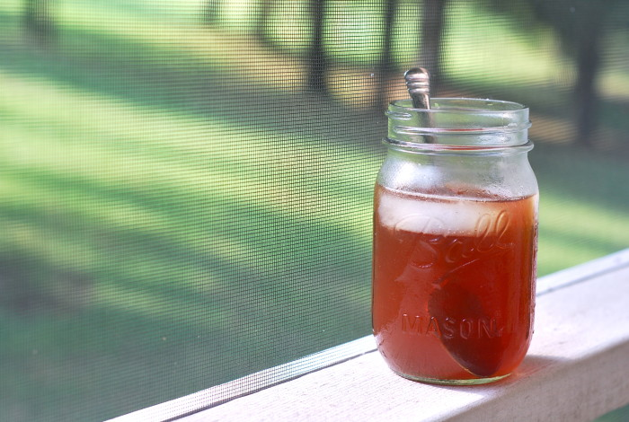 14. It's likely that your tea is in or has been consumed from a mason jar.