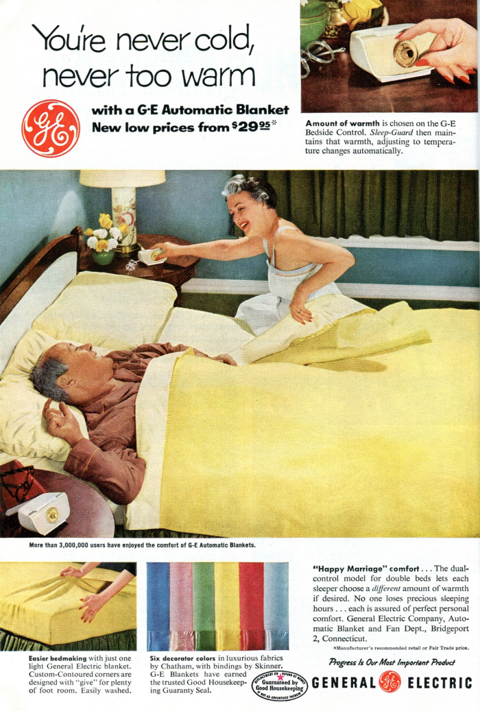 2) Breath new life into that electric blanket.
