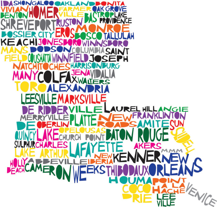 Map Of Texas Cities Some Of The Cities I Ve: Hilarious Maps Of Louisiana