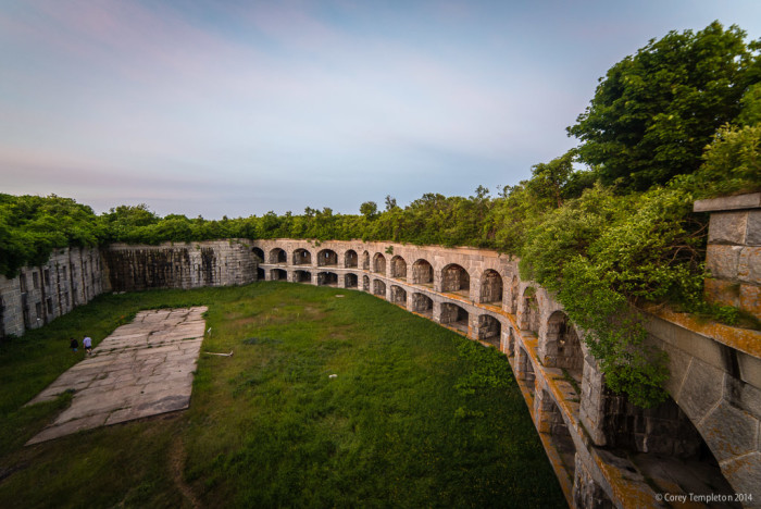 2. A Civil War-era monument of crumbling granite and wild brush, Fort Gorges stands sentinel in the Casco Bay, guarding the entrance to Portland Harbor.