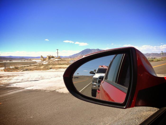 3. Receiving a speeding ticket.