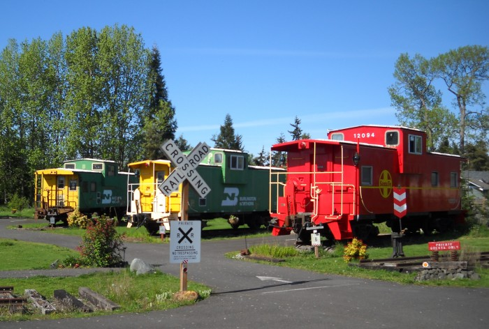 4. If you're not up for taking a train, you could always just stay in one at the Red Caboose Getaway in Sequim.