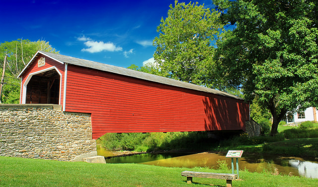 3. They can also show you charming covered bridges, which are found in the greatest numbers in Pennsylvania.