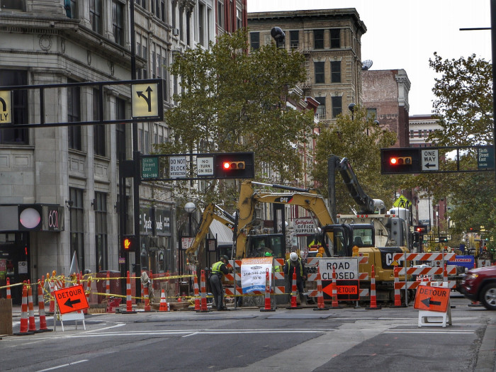 """4. The joke of a concept known as """"street construction."""""""