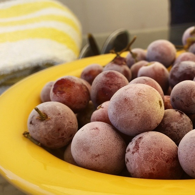 8. Instead of using ice cubes, chill your wine with frozen grapes so you're not watering it down.